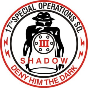 17th Special Operations Squadron patch.  SHADOW. Deny him the dark.