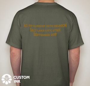 20th Anniversary Reunion T-Shirt Back - green