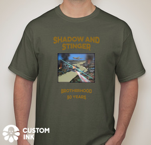 20th Anniversary Reunion T-Shirt Front - green