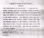 Norbert Simon Letter