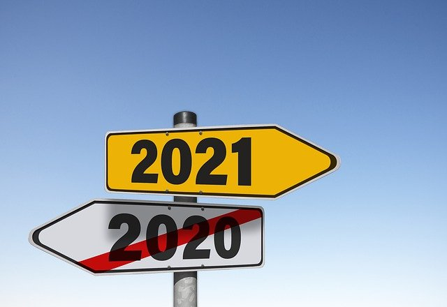 No more 2020. Now 2021