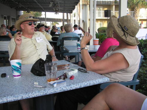 2005 FWB, FL Reunion - Dave and Mary Voisey Enjoying Cigars