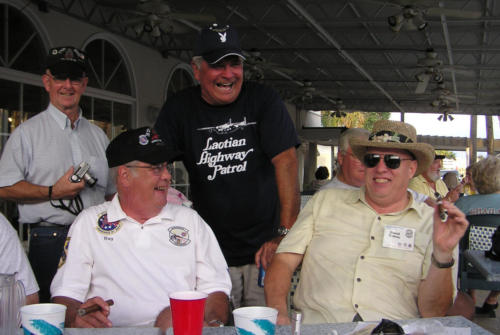 2005 FWB, FL Reunion - Ray, Norm Evans, and Dave Voisey Enjoy Cigars