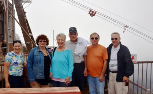 2014 ABQ Reunion-Becky Renfro, Andrea Drzyzga, Sue Fletcher, Mike Drzyzga, George Renfro, and Larry Renfro at Sandia Peak
