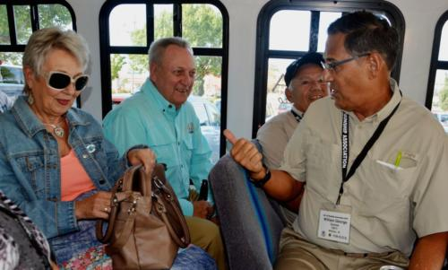 2014 ABQ Reunion- Sue and Larry Fletcher; Bill Zito; and William George on bus