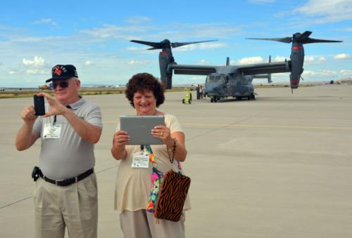 2014 ABQ Reunion-Fred Rider and Andrea Drzyzga with CV-22