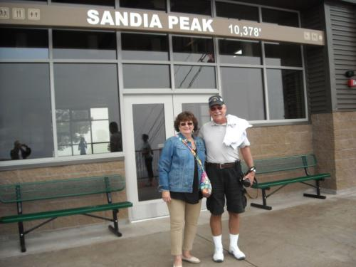 2014 ABQ Reunion-Andrea and Mike Drzyzga at Sandia Peak