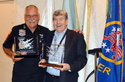 2014 ABQ Reunion- Mike Drzyzga and Bruce Byrd display awards