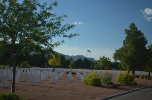 Ken Brown, El Paso National Cemetary, visited by Larry Barbee