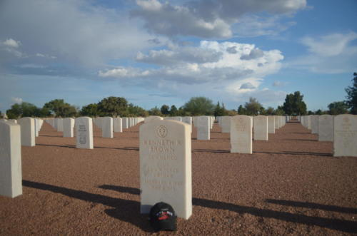 Ken Brown Headstone, visited by Larry Barbee
