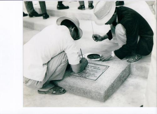 Finishing John O'Neal Rucker's DaNang Memorial Inscription