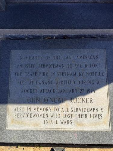 Rucker Memorial at Linden, TX